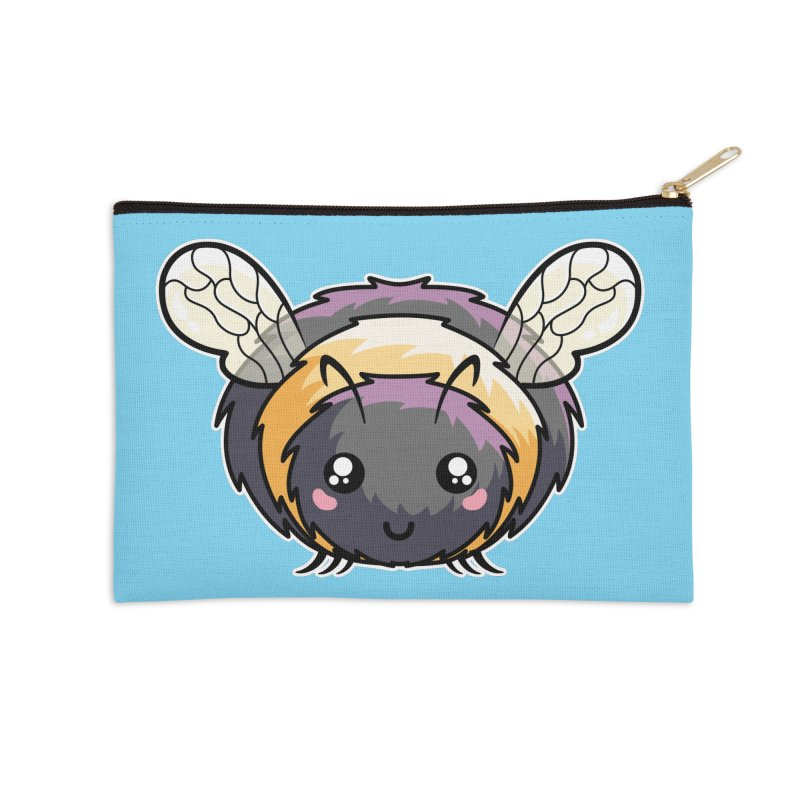 Kawaii Cute Bee Accessories Zip Pouch by Flaming Imp's Artist Shop