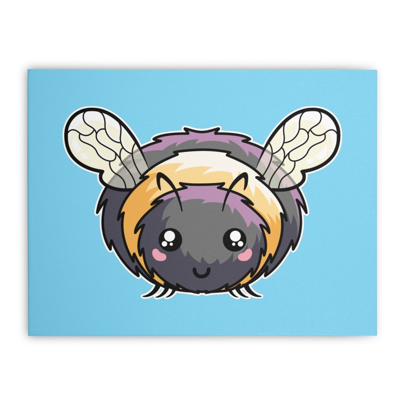 Kawaii Cute Bee Home Stretched Canvas by Flaming Imp's Artist Shop