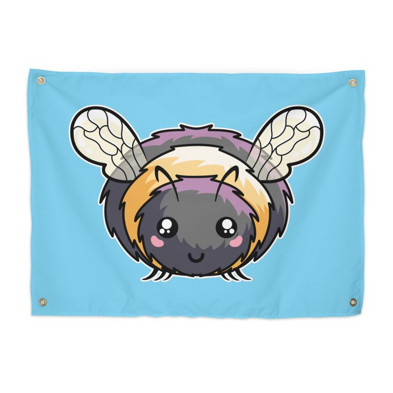 Kawaii Cute Bee Home Tapestry by Flaming Imp's Artist Shop