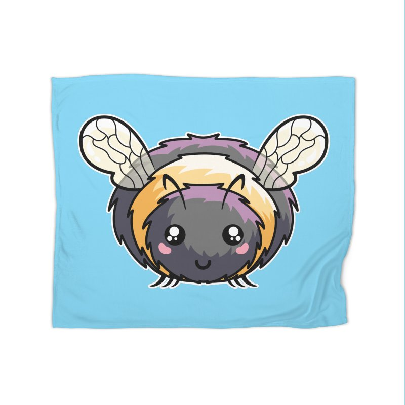 Kawaii Cute Bee Home Fleece Blanket Blanket by Flaming Imp's Artist Shop