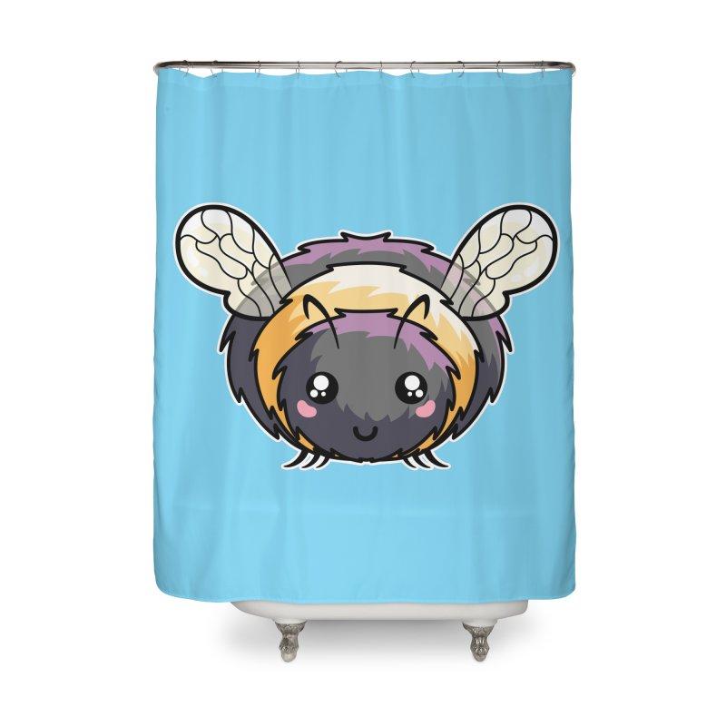 Kawaii Cute Bee Home Shower Curtain by Flaming Imp's Artist Shop