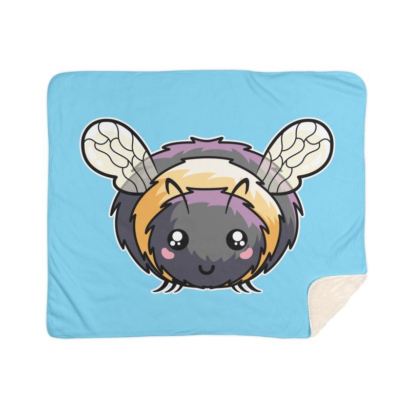 Kawaii Cute Bee Home Sherpa Blanket Blanket by Flaming Imp's Artist Shop