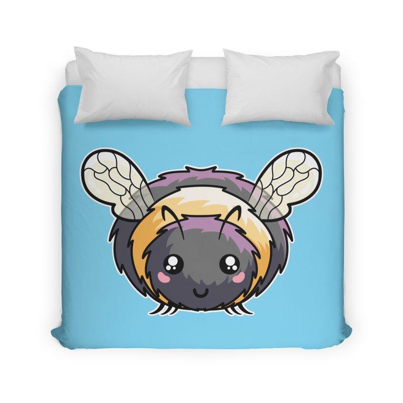 Kawaii Cute Bee Home Duvet by Flaming Imp's Artist Shop