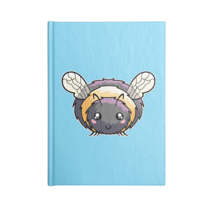 Kawaii Cute Bee Accessories Lined Journal Notebook by Flaming Imp's Artist Shop