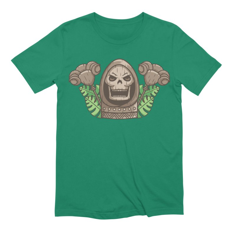 Skeletor Tiki Men's Extra Soft T-Shirt by Flaming Imp's Artist Shop