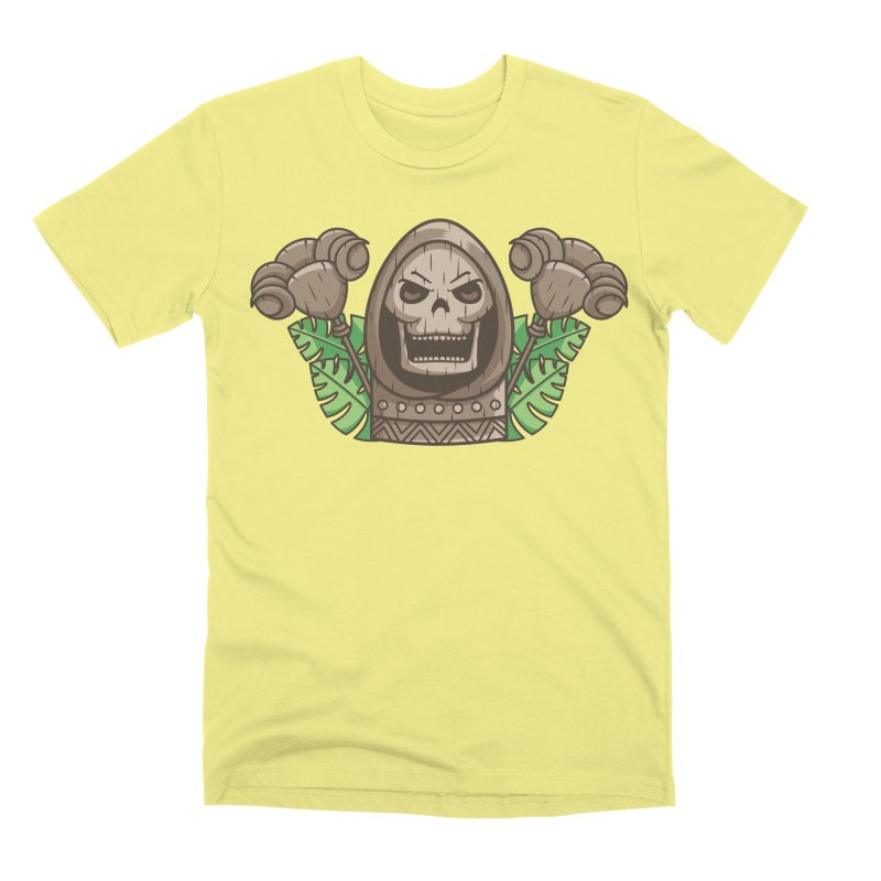 Skeletor Tiki Men's Premium T-Shirt by Flaming Imp's Artist Shop