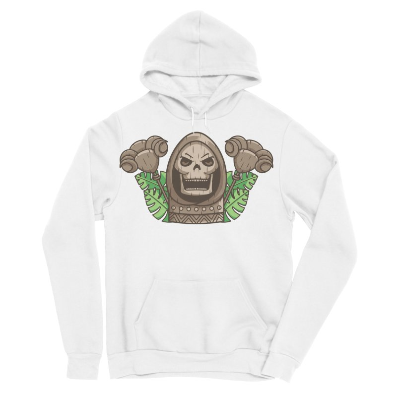 Skeletor Tiki Women's Sponge Fleece Pullover Hoody by Flaming Imp's Artist Shop