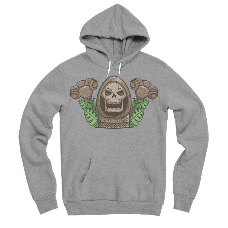 Skeletor Tiki Men's Sponge Fleece Pullover Hoody by Flaming Imp's Artist Shop