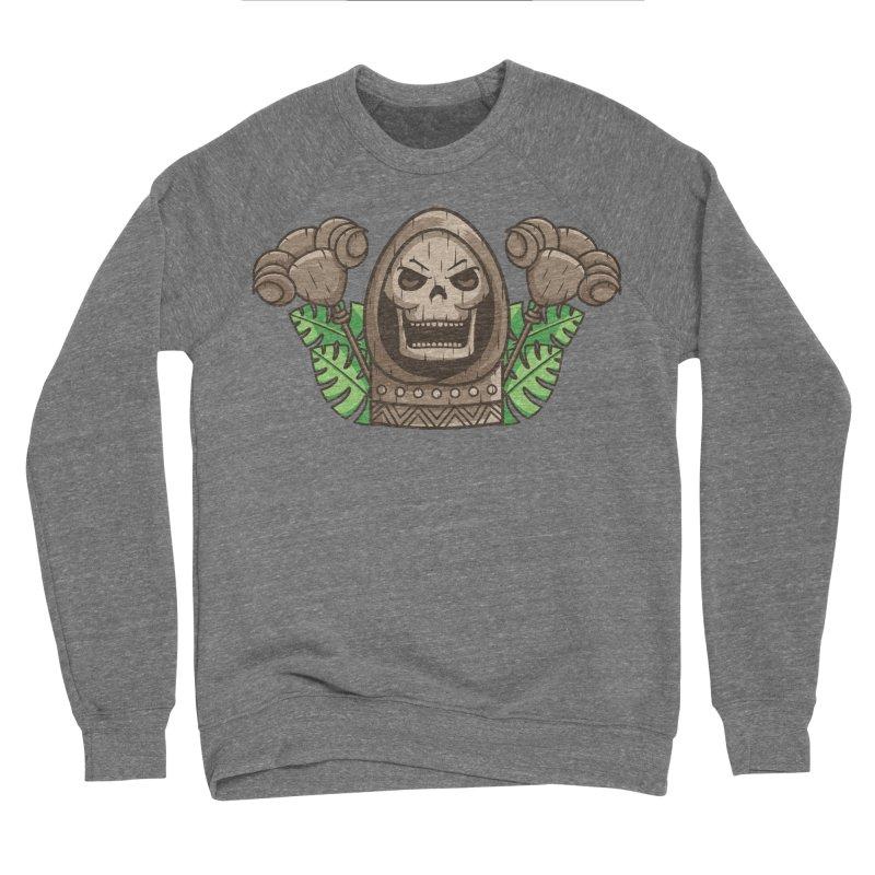 Skeletor Tiki Men's Sponge Fleece Sweatshirt by Flaming Imp's Artist Shop