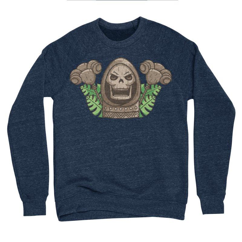 Skeletor Tiki Women's Sponge Fleece Sweatshirt by Flaming Imp's Artist Shop