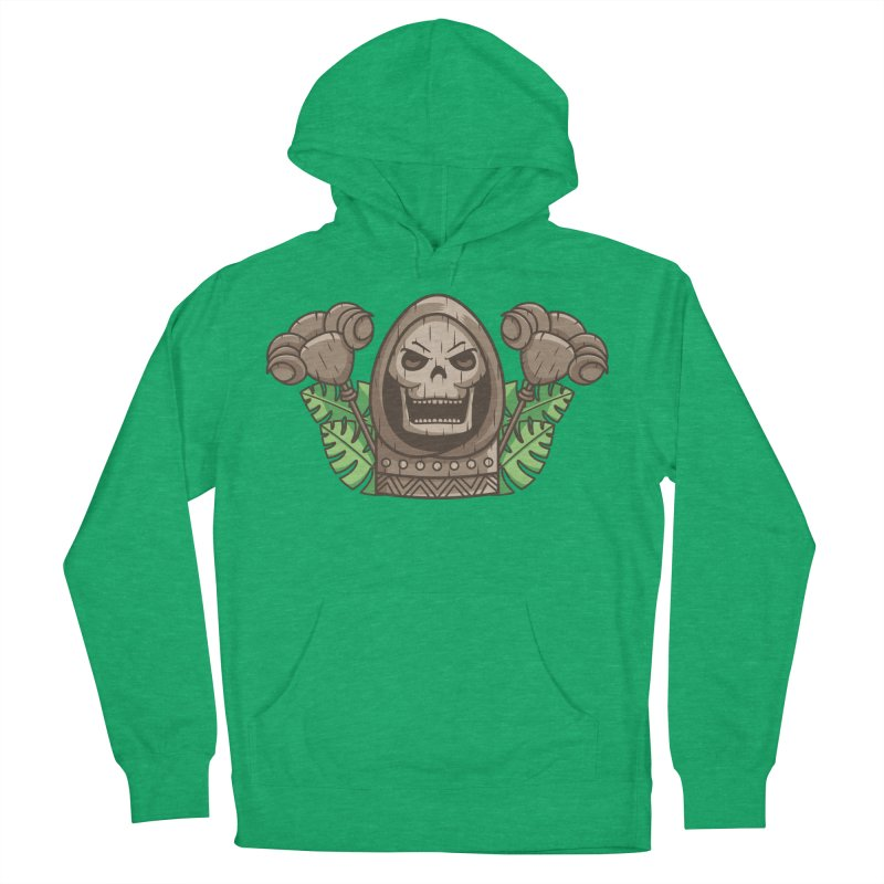 Skeletor Tiki Women's French Terry Pullover Hoody by Flaming Imp's Artist Shop