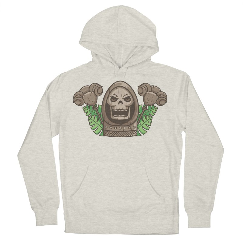 Skeletor Tiki Men's French Terry Pullover Hoody by Flaming Imp's Artist Shop
