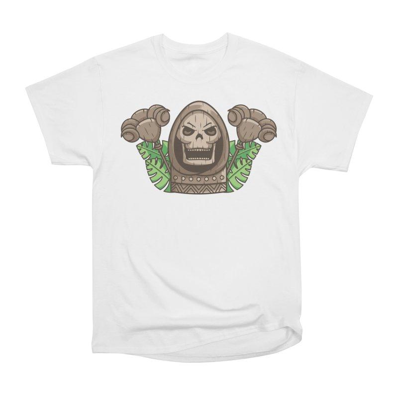 Skeletor Tiki Men's Heavyweight T-Shirt by Flaming Imp's Artist Shop