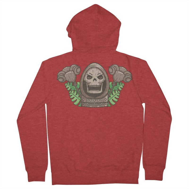 Skeletor Tiki Women's French Terry Zip-Up Hoody by Flaming Imp's Artist Shop
