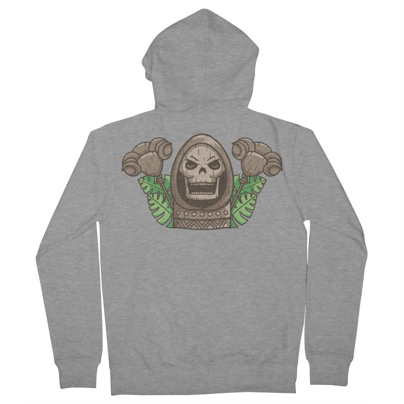 Skeletor Tiki Men's French Terry Zip-Up Hoody by Flaming Imp's Artist Shop