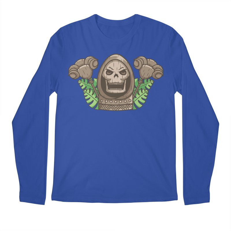Skeletor Tiki Men's Regular Longsleeve T-Shirt by Flaming Imp's Artist Shop