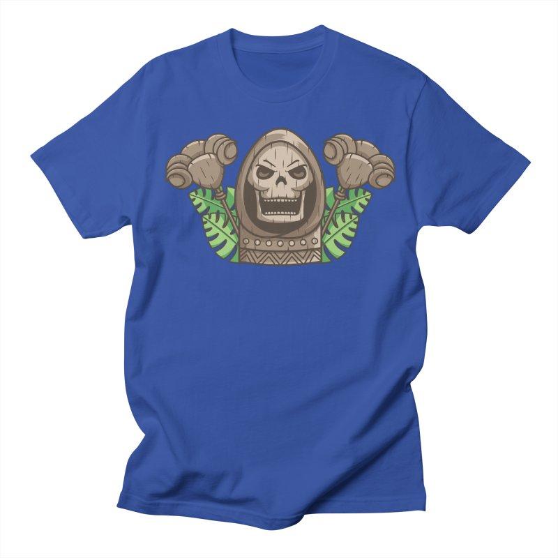 Skeletor Tiki Women's Regular Unisex T-Shirt by Flaming Imp's Artist Shop