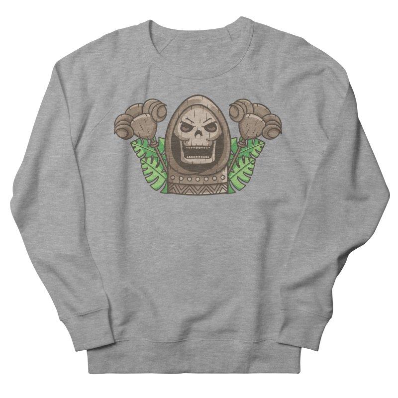 Skeletor Tiki Women's French Terry Sweatshirt by Flaming Imp's Artist Shop