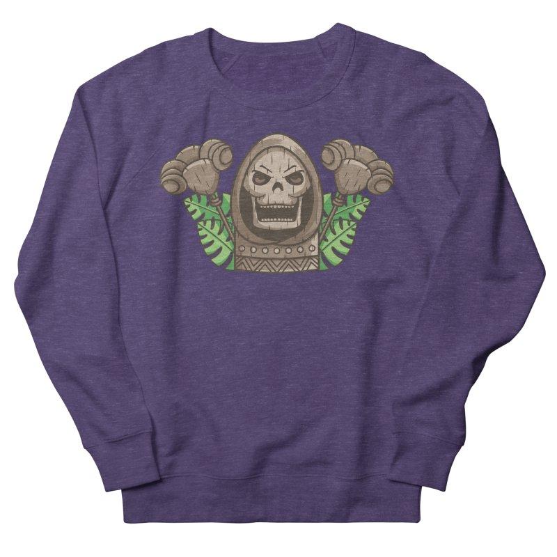 Skeletor Tiki Men's French Terry Sweatshirt by Flaming Imp's Artist Shop