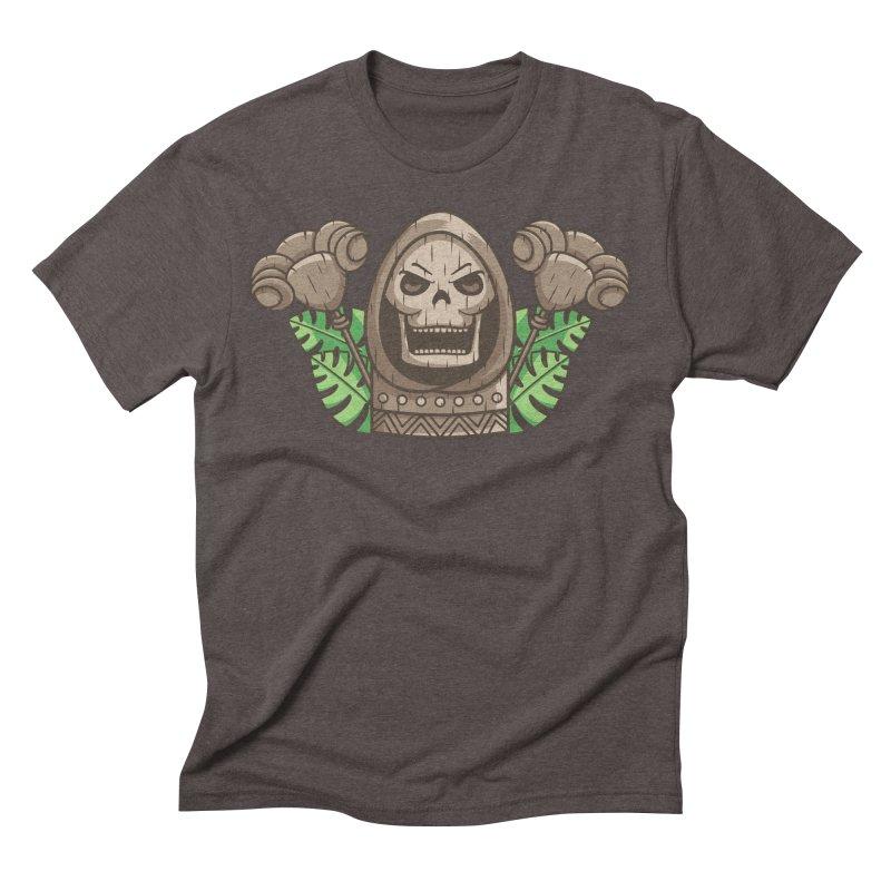 Skeletor Tiki Men's Triblend T-Shirt by Flaming Imp's Artist Shop