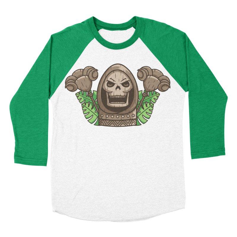 Skeletor Tiki Women's Baseball Triblend Longsleeve T-Shirt by Flaming Imp's Artist Shop