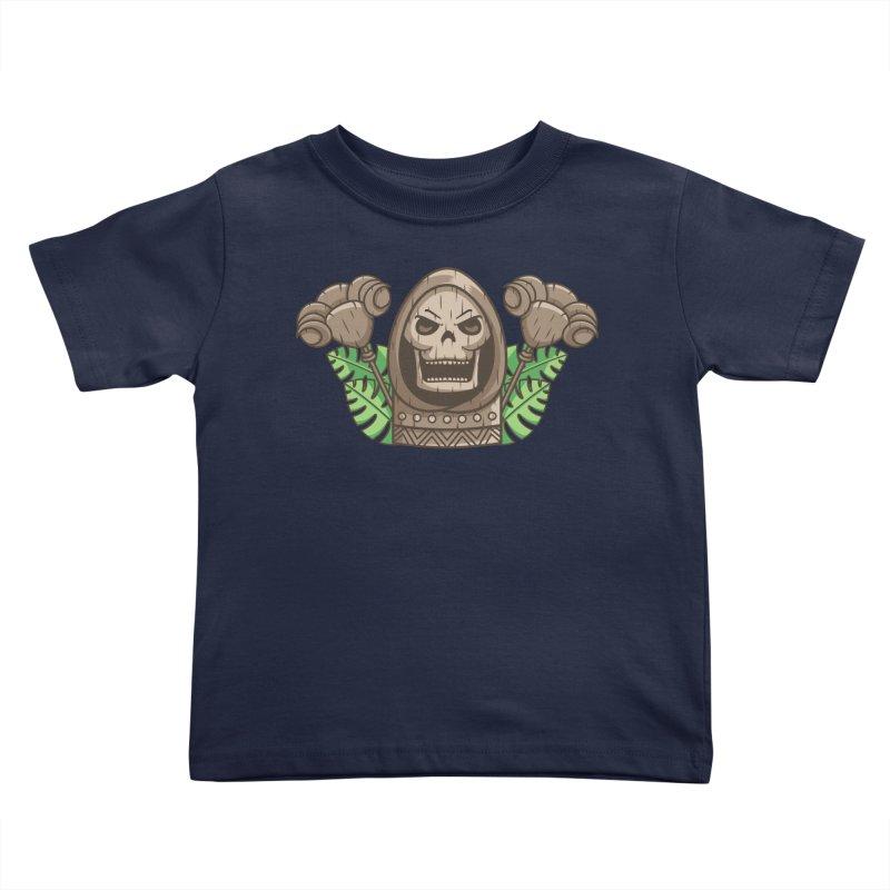 Skeletor Tiki Kids Toddler T-Shirt by Flaming Imp's Artist Shop