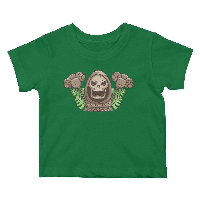 Skeletor Tiki Kids Baby T-Shirt by Flaming Imp's Artist Shop