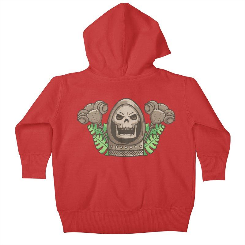Skeletor Tiki Kids Baby Zip-Up Hoody by Flaming Imp's Artist Shop