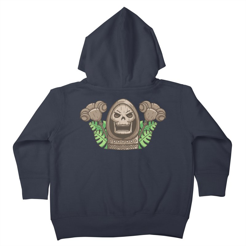 Skeletor Tiki Kids Toddler Zip-Up Hoody by Flaming Imp's Artist Shop