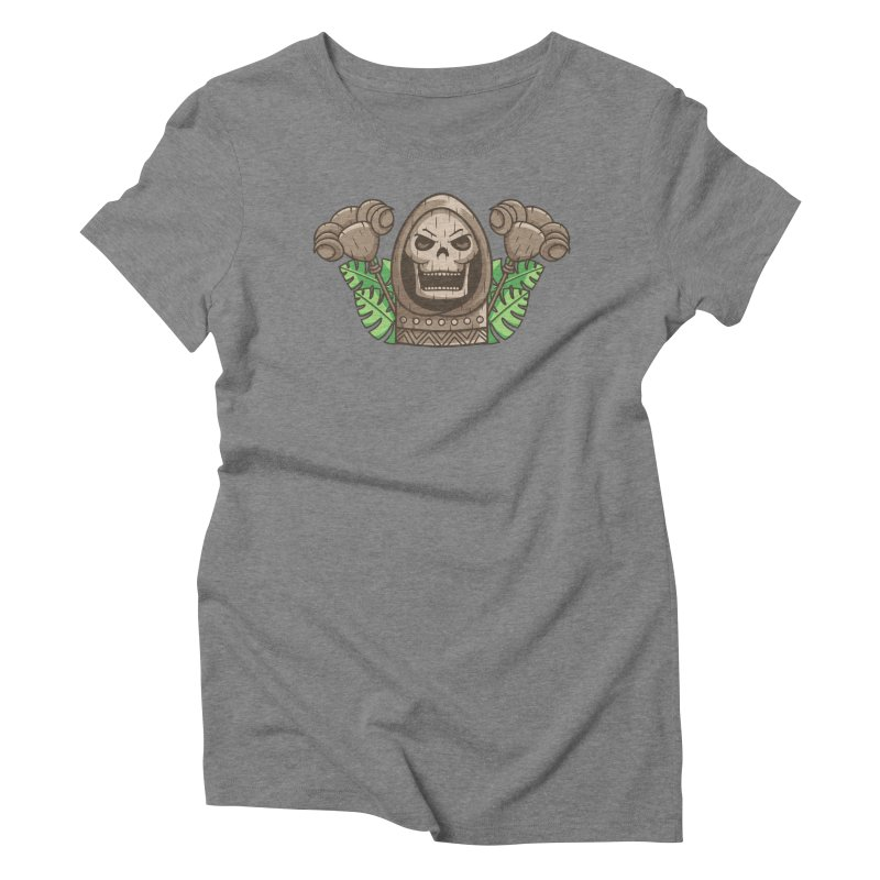 Skeletor Tiki Women's Triblend T-Shirt by Flaming Imp's Artist Shop