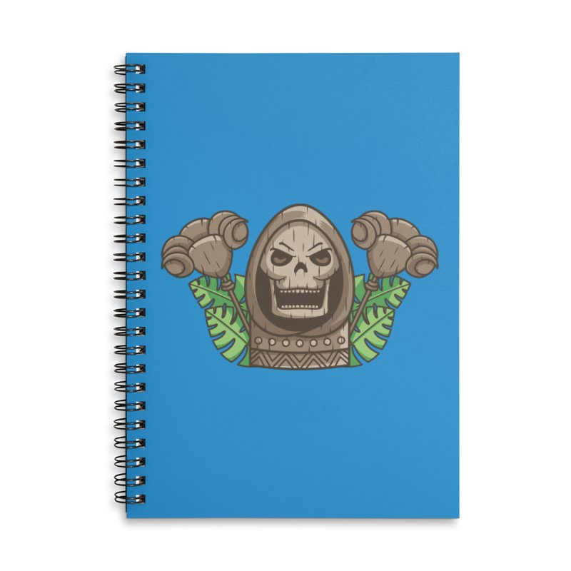 Skeletor Tiki Accessories Lined Spiral Notebook by Flaming Imp's Artist Shop