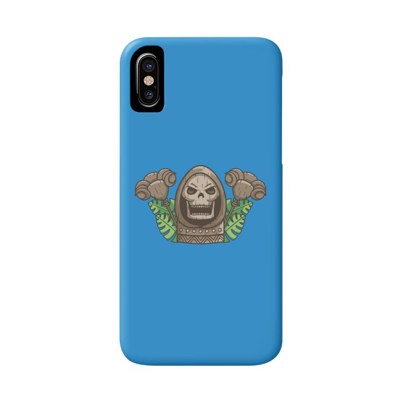 Skeletor Tiki Accessories Phone Case by Flaming Imp's Artist Shop