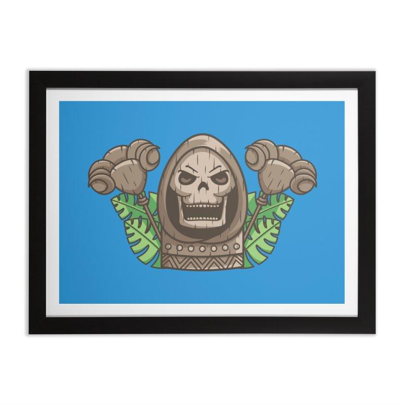 Skeletor Tiki Home Framed Fine Art Print by Flaming Imp's Artist Shop