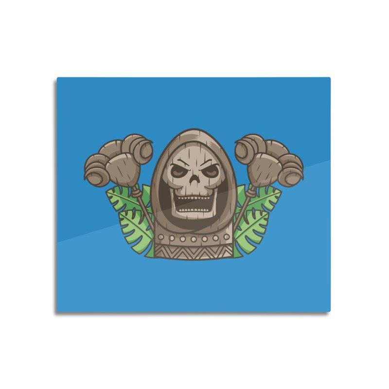 Skeletor Tiki Home Mounted Aluminum Print by Flaming Imp's Artist Shop