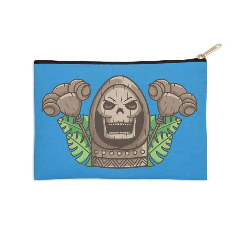 Skeletor Tiki Accessories Zip Pouch by Flaming Imp's Artist Shop