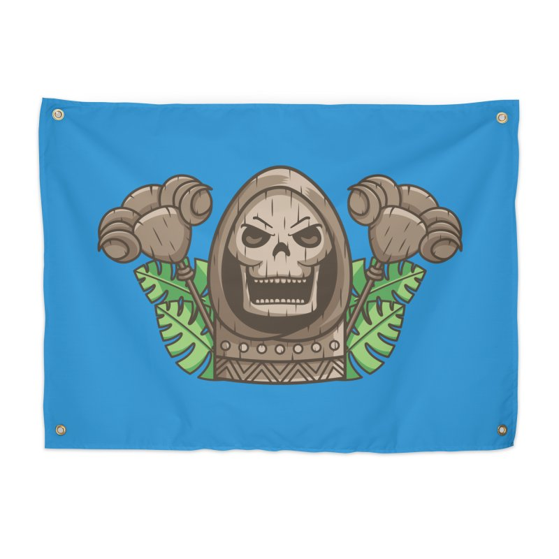 Skeletor Tiki Home Tapestry by Flaming Imp's Artist Shop