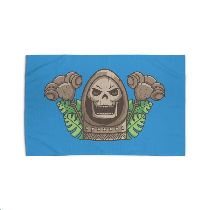 Skeletor Tiki Home Rug by Flaming Imp's Artist Shop