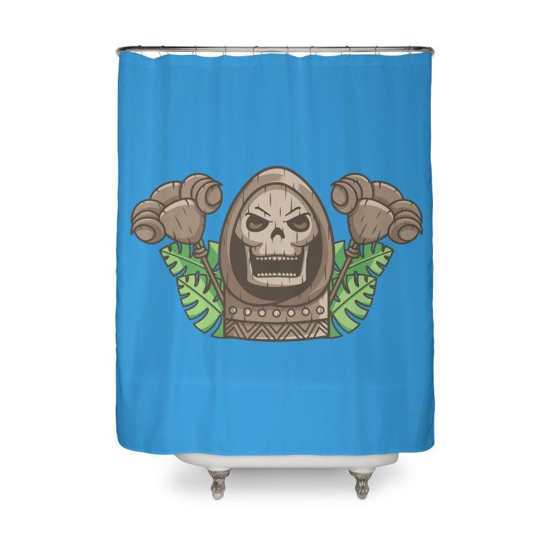 Skeletor Tiki Home Shower Curtain by Flaming Imp's Artist Shop