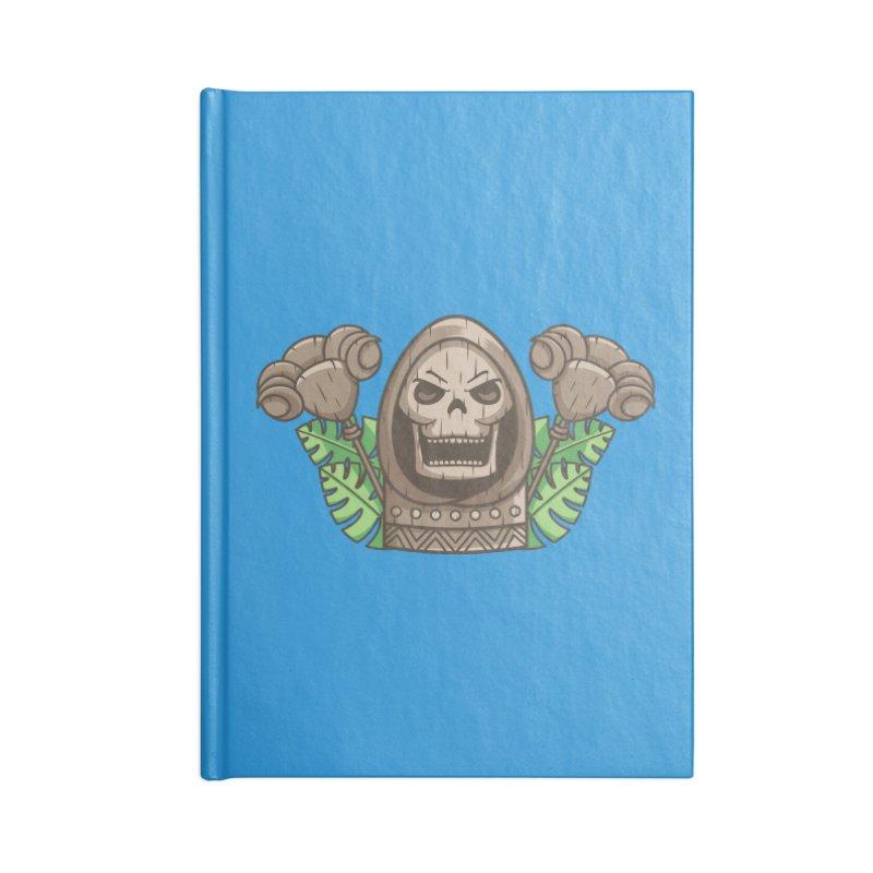 Skeletor Tiki Accessories Blank Journal Notebook by Flaming Imp's Artist Shop