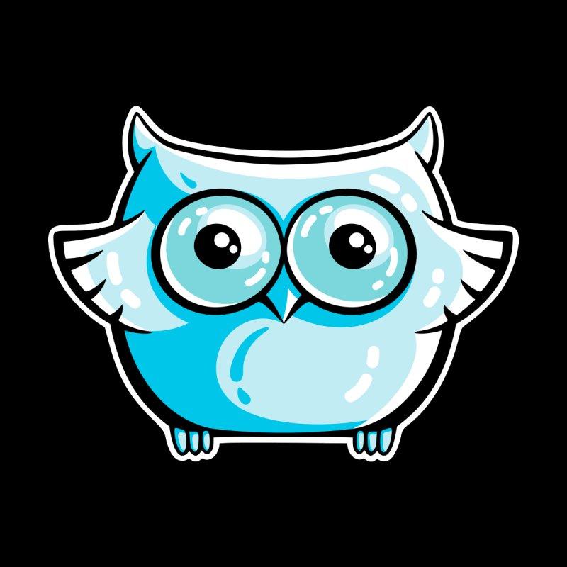 Blue Cute Owl by Flaming Imp's Artist Shop