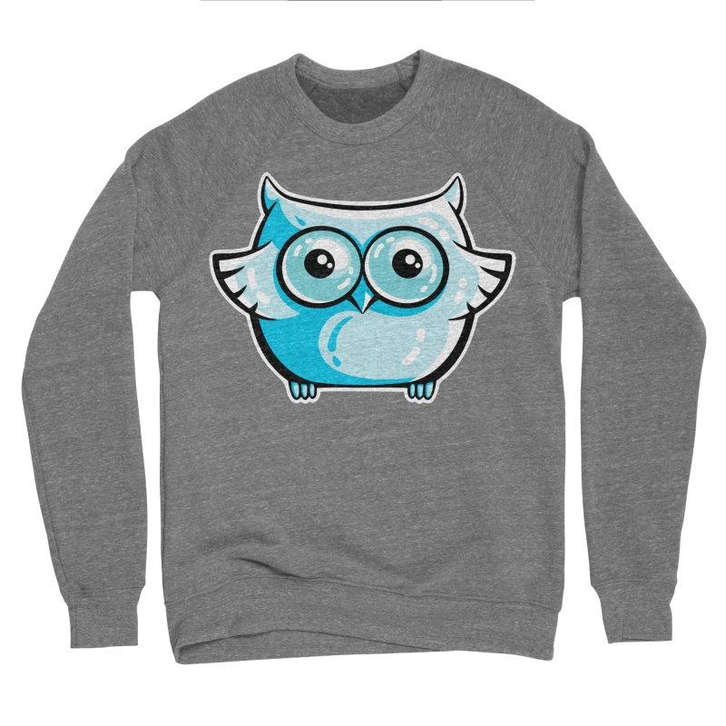 Blue Cute Owl Men's Sponge Fleece Sweatshirt by Flaming Imp's Artist Shop