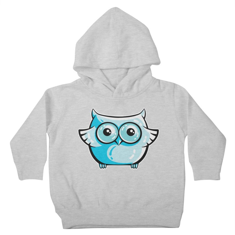 Blue Cute Owl Kids Toddler Pullover Hoody by Flaming Imp's Artist Shop
