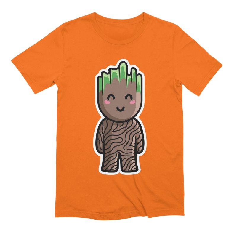 Kawaii Cute Baby Groot Men's Extra Soft T-Shirt by Flaming Imp's Artist Shop
