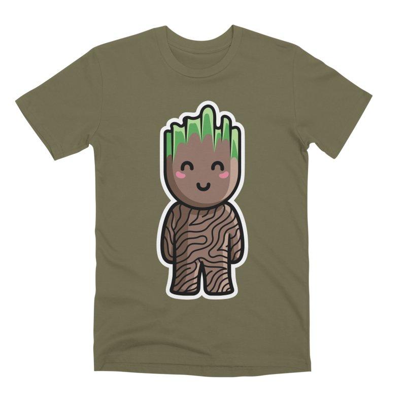 Kawaii Cute Baby Groot Men's Premium T-Shirt by Flaming Imp's Artist Shop