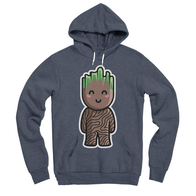 Kawaii Cute Baby Groot Men's Sponge Fleece Pullover Hoody by Flaming Imp's Artist Shop