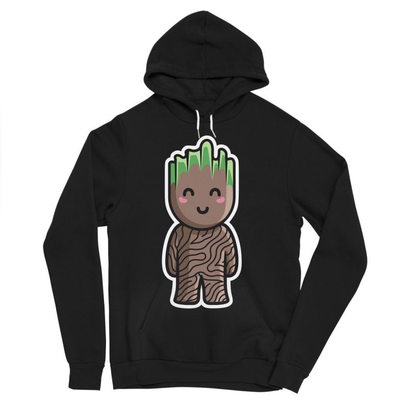 Kawaii Cute Baby Groot Women's Sponge Fleece Pullover Hoody by Flaming Imp's Artist Shop