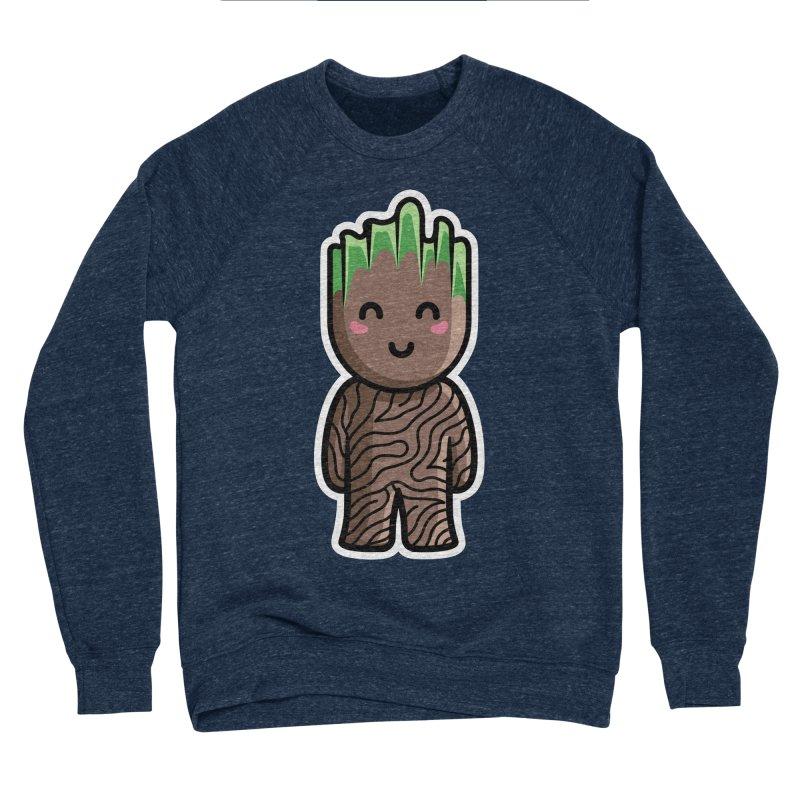 Kawaii Cute Baby Groot Women's Sponge Fleece Sweatshirt by Flaming Imp's Artist Shop