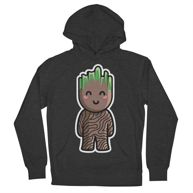 Kawaii Cute Baby Groot Men's French Terry Pullover Hoody by Flaming Imp's Artist Shop