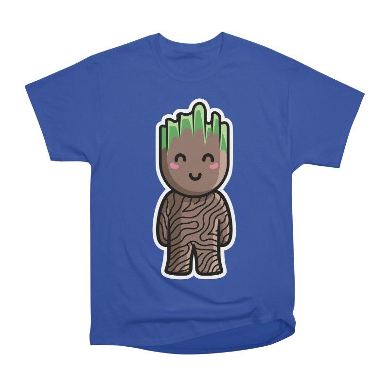 Kawaii Cute Baby Groot Men's Heavyweight T-Shirt by Flaming Imp's Artist Shop