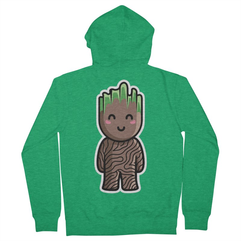 Kawaii Cute Baby Groot Women's French Terry Zip-Up Hoody by Flaming Imp's Artist Shop